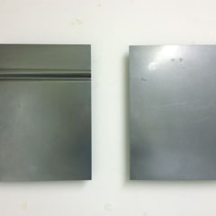 claudia schumann, untitled, 2012, object (2parts), each 43 x 31 cm, steel